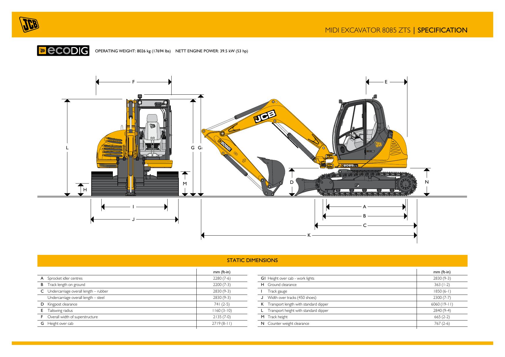midi excavator 8085 zts | specification | manualzz com