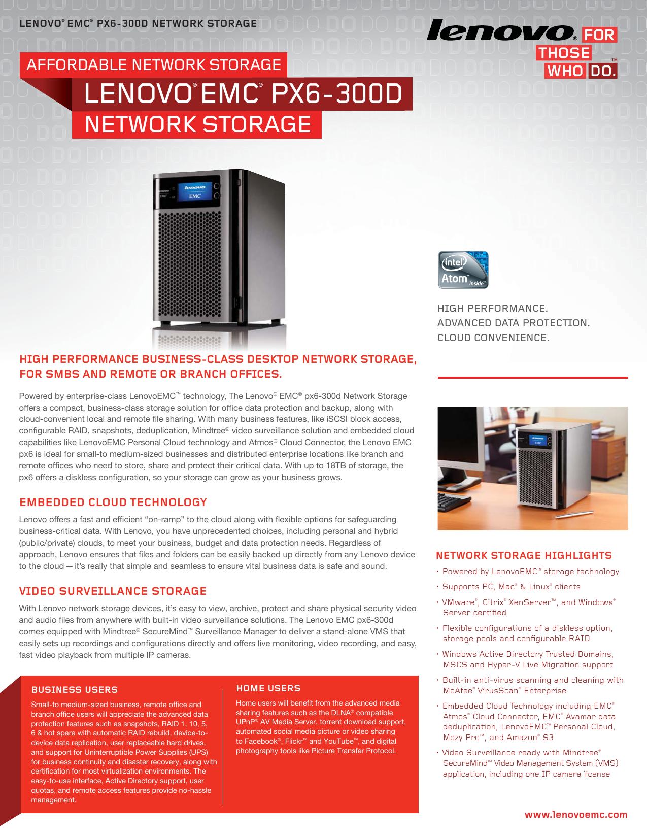 LENOVO® EMC® PX6-300D | manualzz com