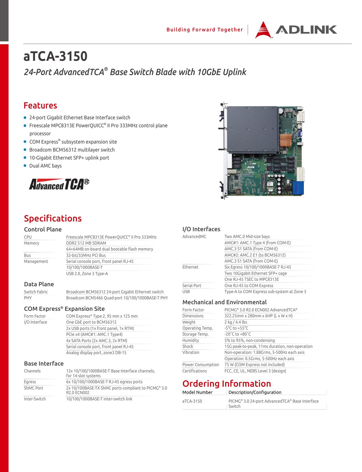 aTCA-3150 - ADLINK Technology | manualzz com