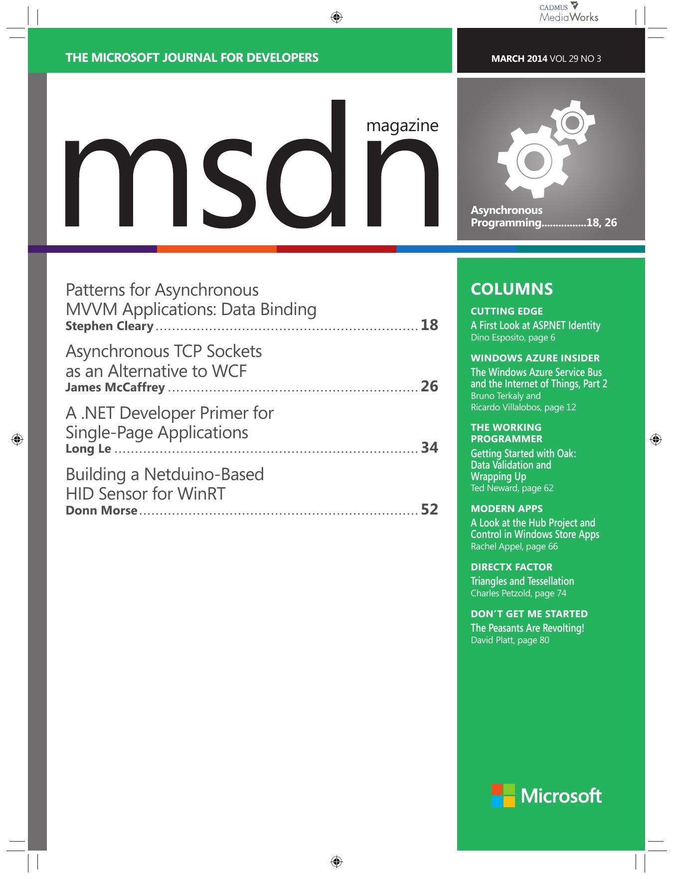magazine Patterns for Asynchronous MVVM | manualzz com
