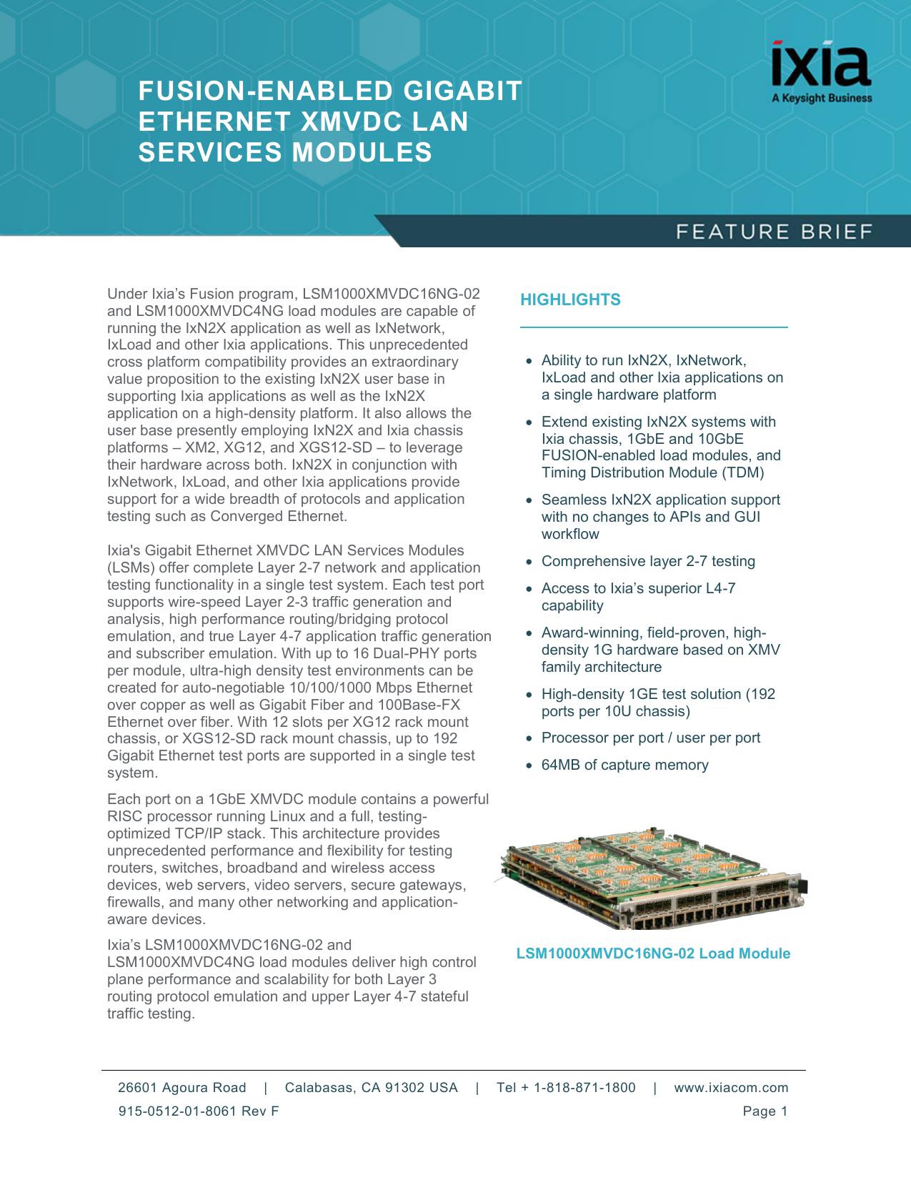 fusion-enabled gigabit ethernet xmvdc lan services modules