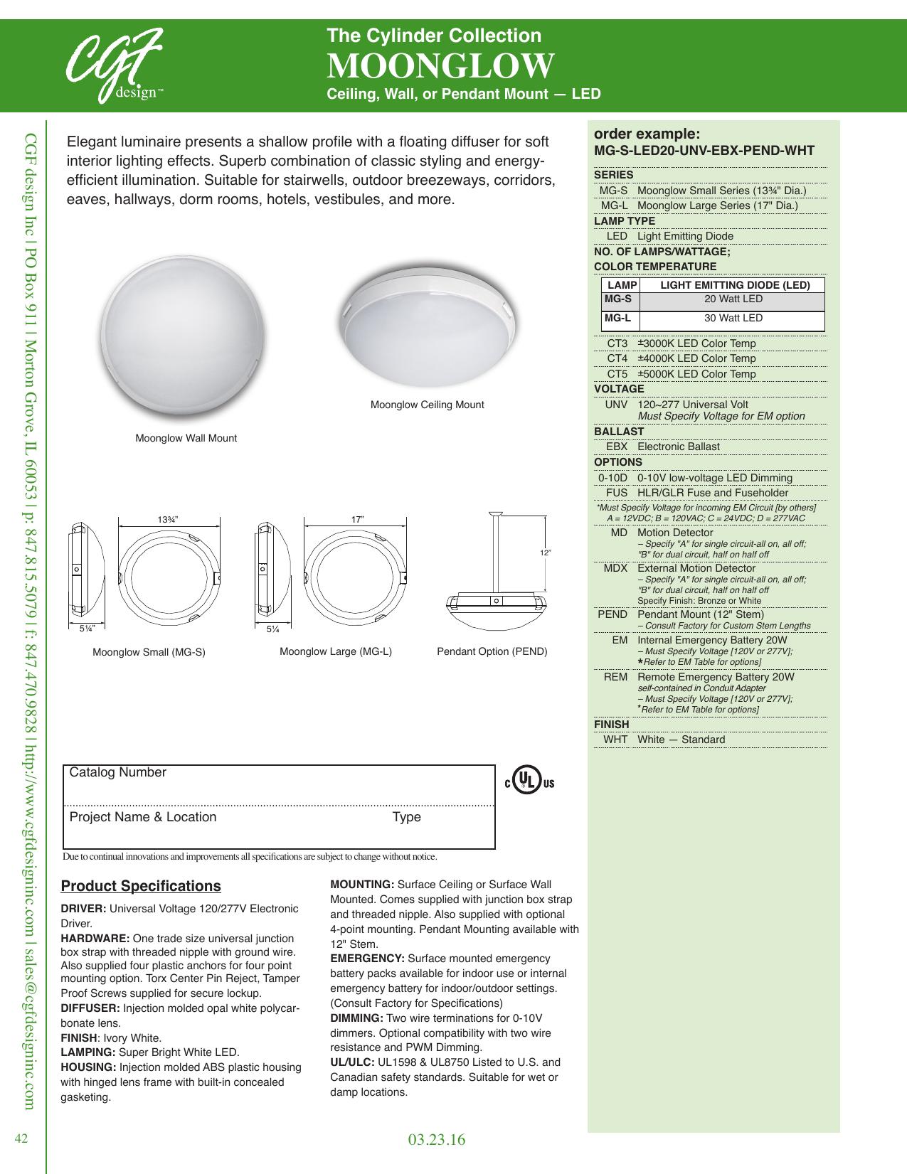 Moonglow Cgf Design Manualzz