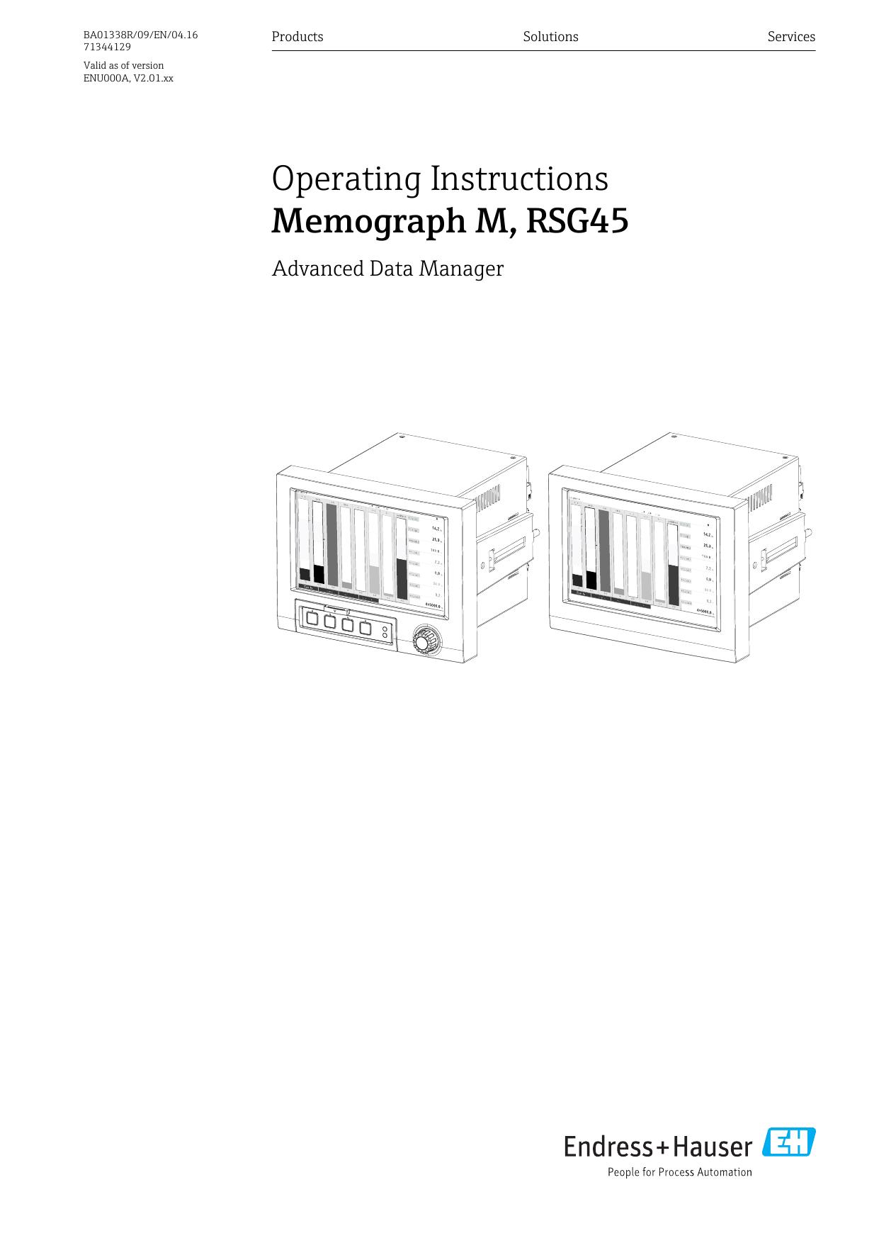 Memograph M, RSG45 - Endress+Hauser Portal   manualzz.com on