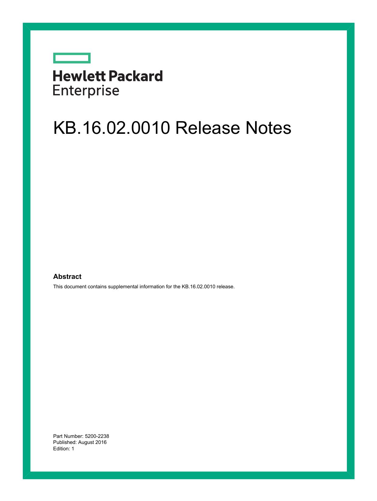 KB 16 02 0010 Release Notes | manualzz com
