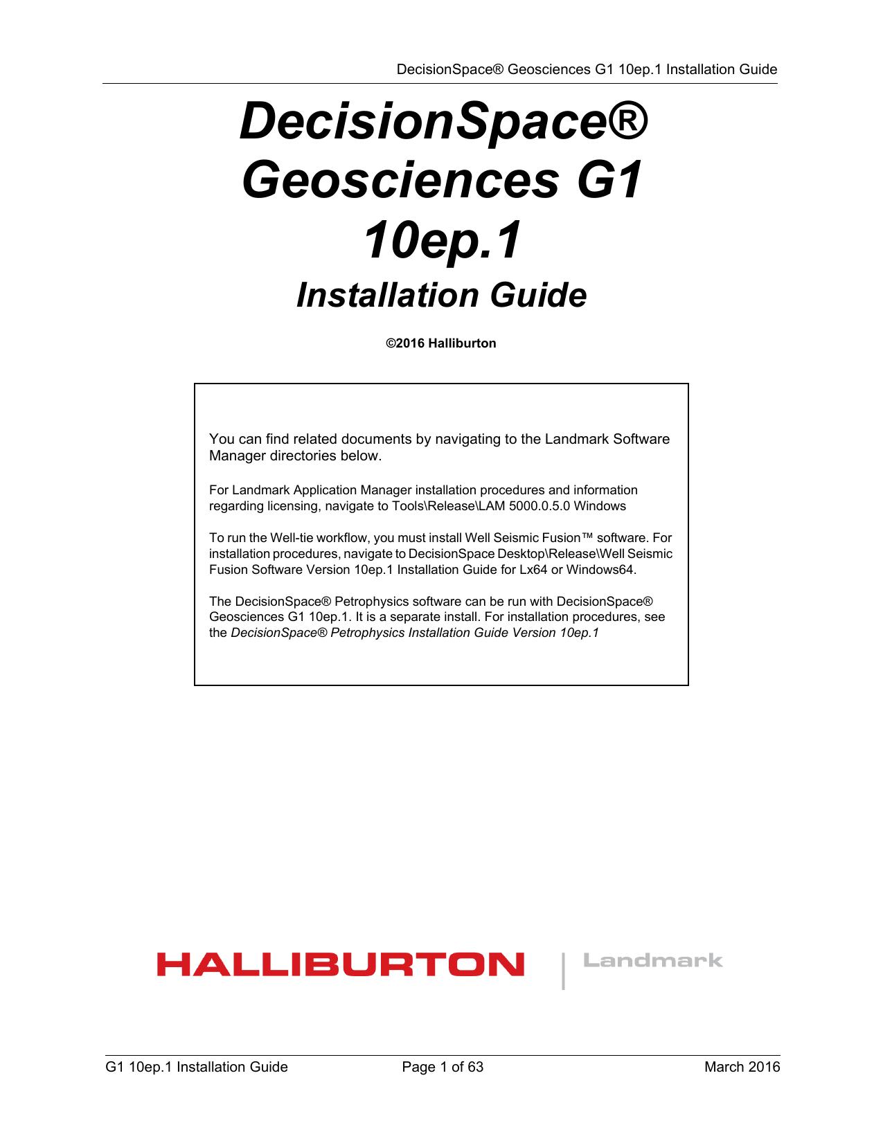 decisionspace geosciences 10ep 1 g1 installation manualzz com rh manualzz com