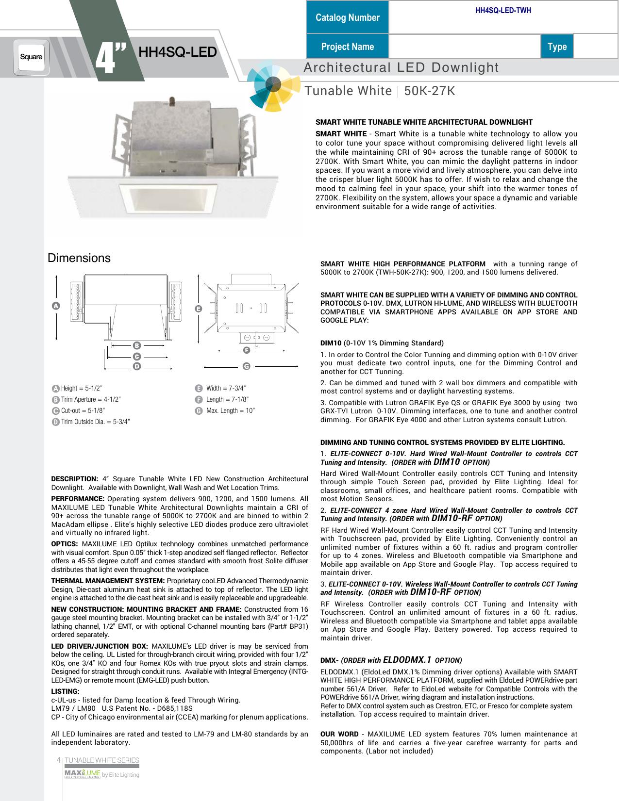 Hh4sq Led Elite Lighting Manualzz