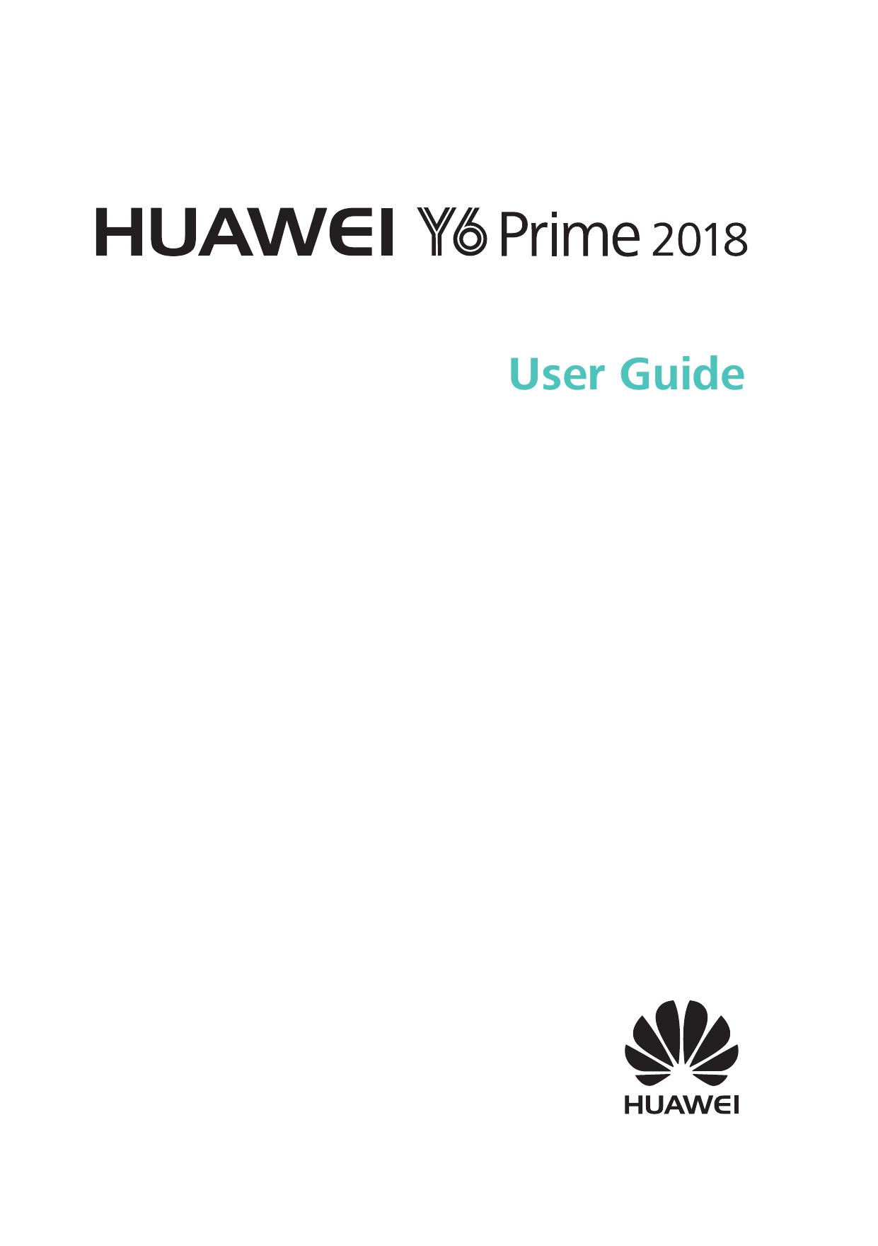 Huawei Y6 Prime 2018 User guide   manualzz com