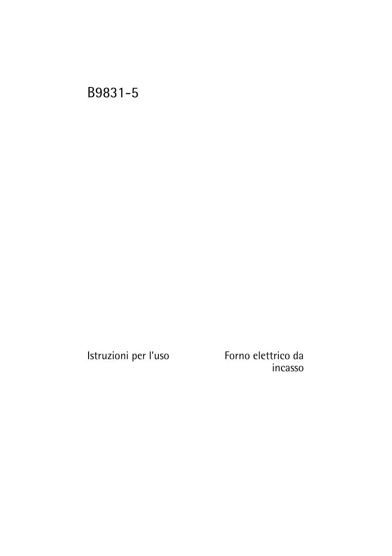 Miscela Per Pulire Il Forno aeg-electrolux b9831-5-m manuale utente | manualzz