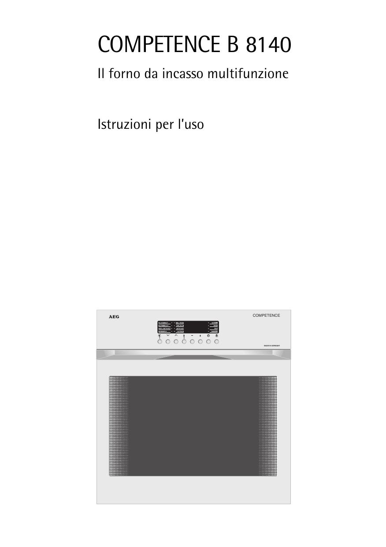 Miscela Per Pulire Il Forno aeg b8140-d manuale utente | manualzz