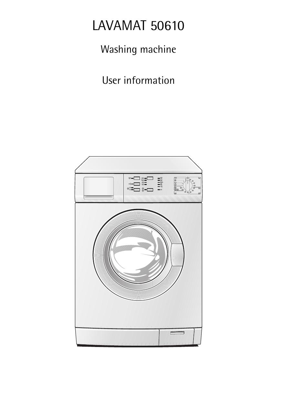Aeg Assistenza Clienti.Aeg Electrolux Lav50610 User Manual Manualzz Com