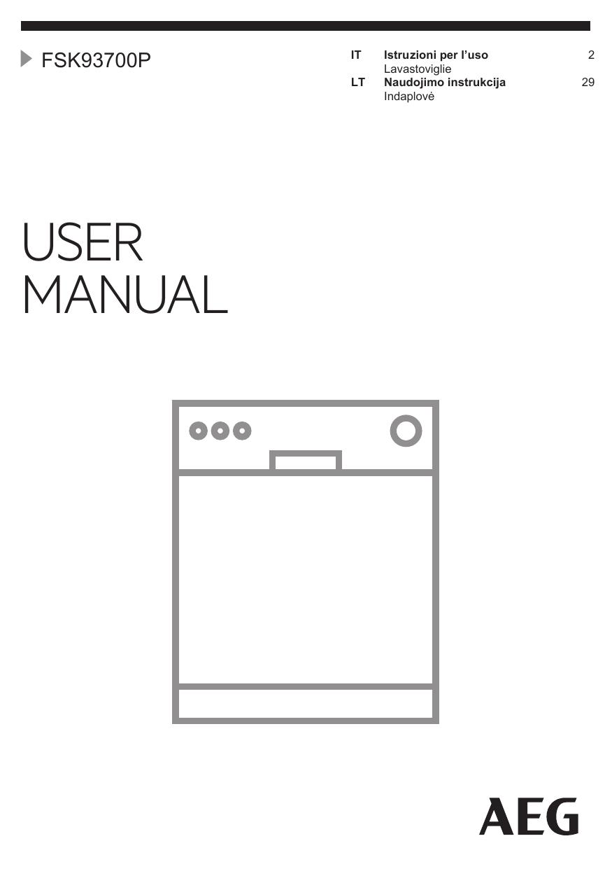 Aeg Assistenza Clienti.Aeg Fsk93700p Manuale Utente Manualzz Com
