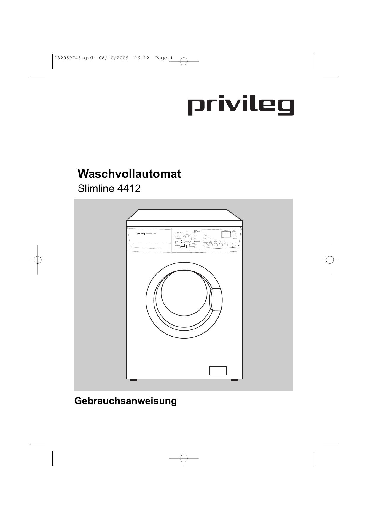 Privileg 4412 Benutzerhandbuch Manualzzcom