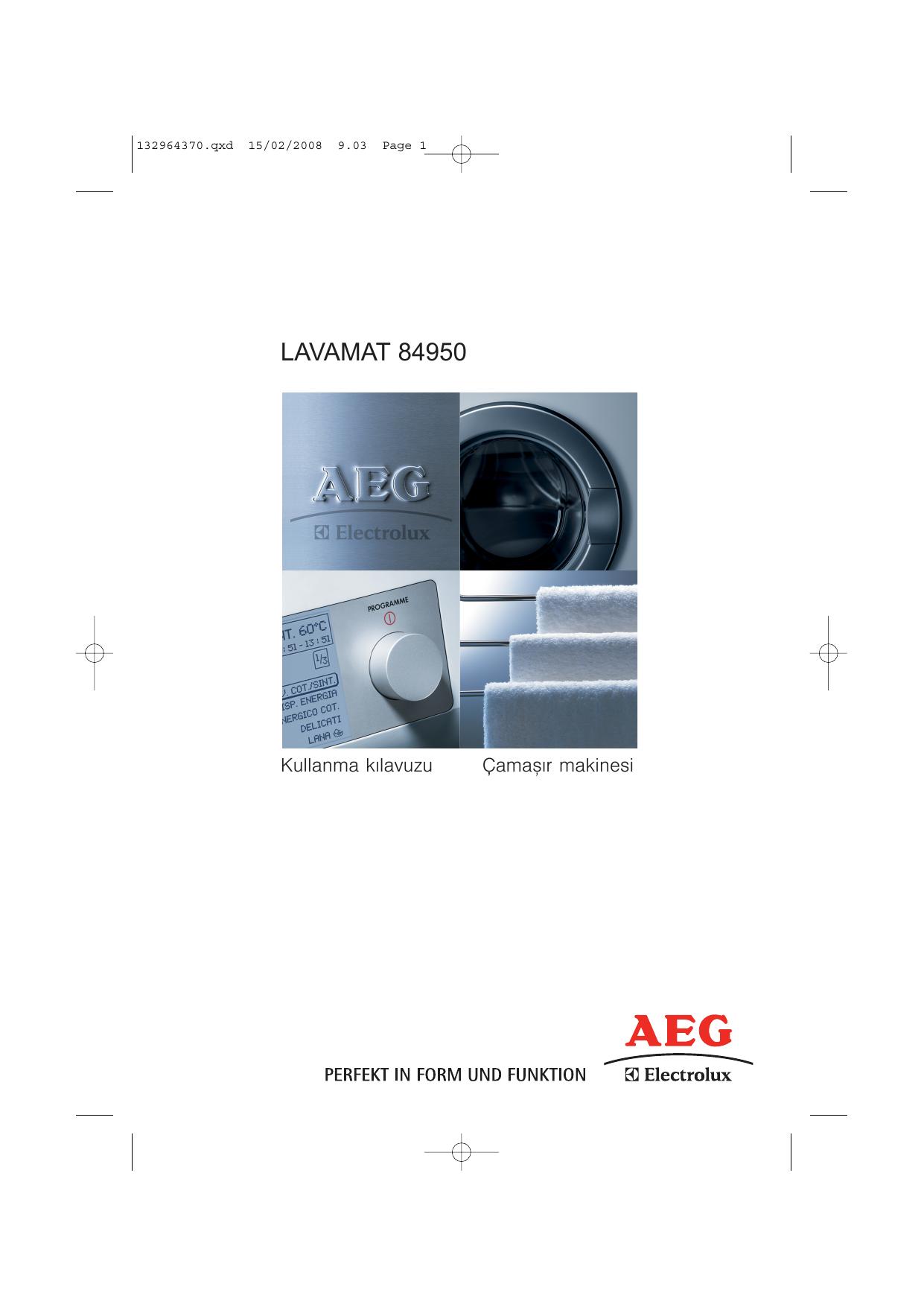 Aeg Electrolux L84950 Kullanim Kilavuzu Manualzz