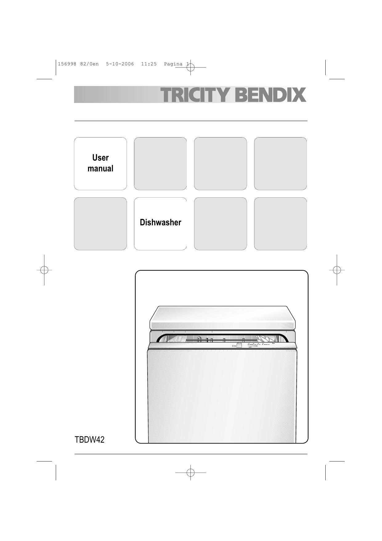 Tricity Bendix TBDW42 User Manual   manualzz com