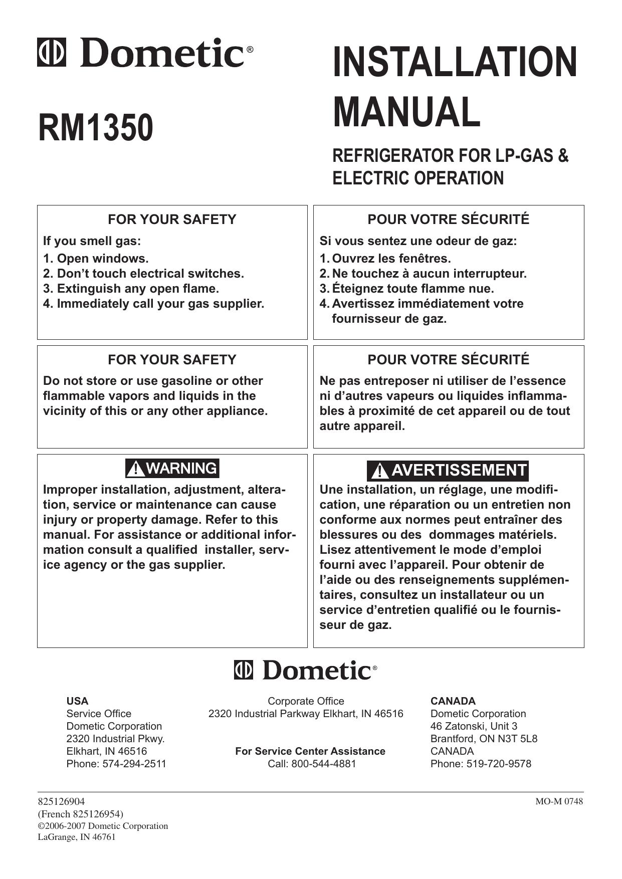 Dometic RM1350 User Manual   manualzz com
