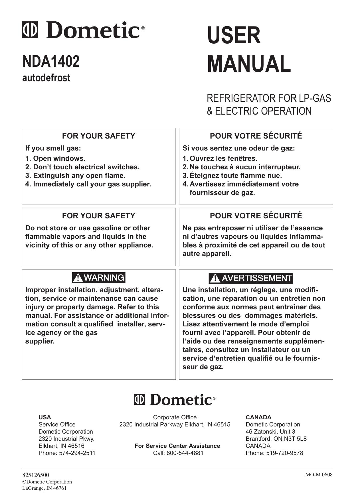 Dometic NDA1402 User Manual   manualzz com