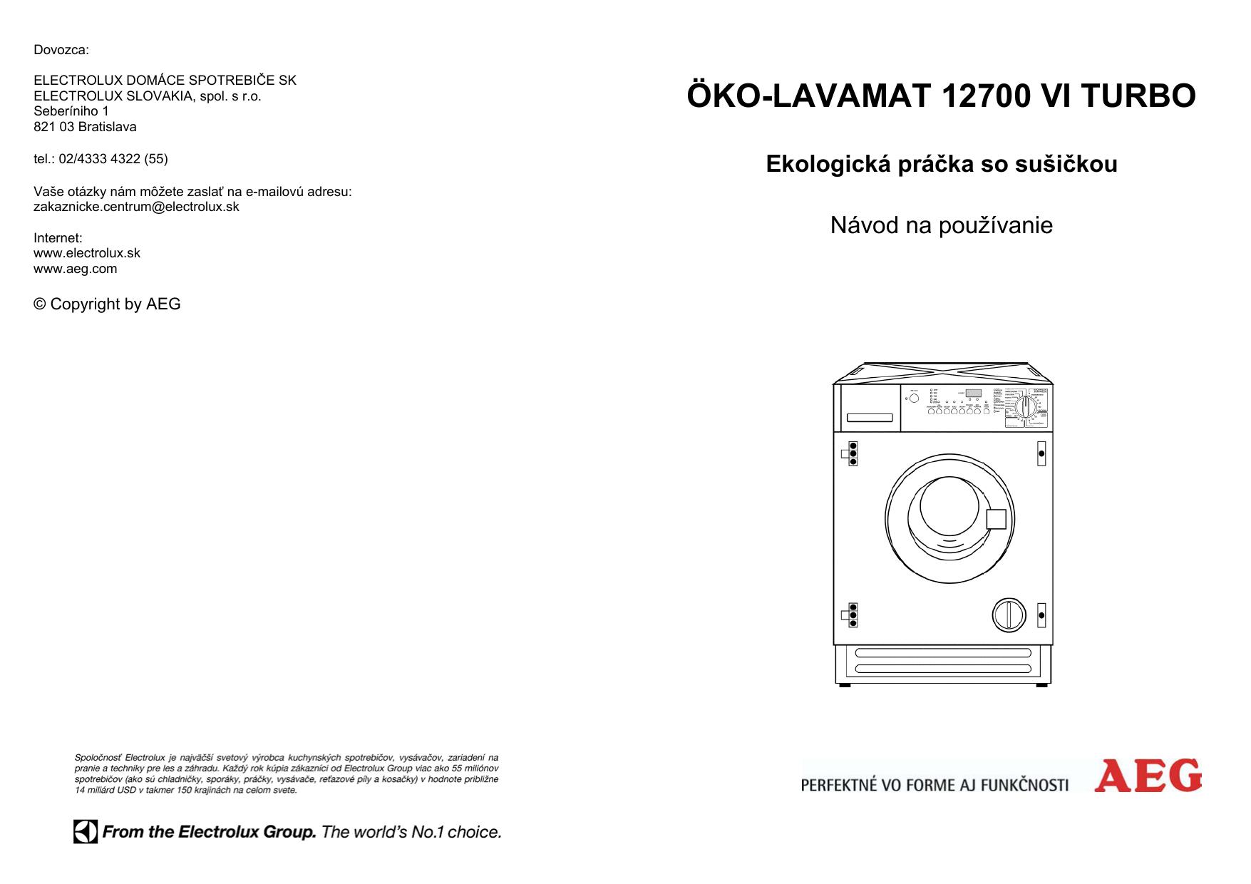 a6d8790eec47f Aeg L12700VIT Používateľská príručka | manualzz.com