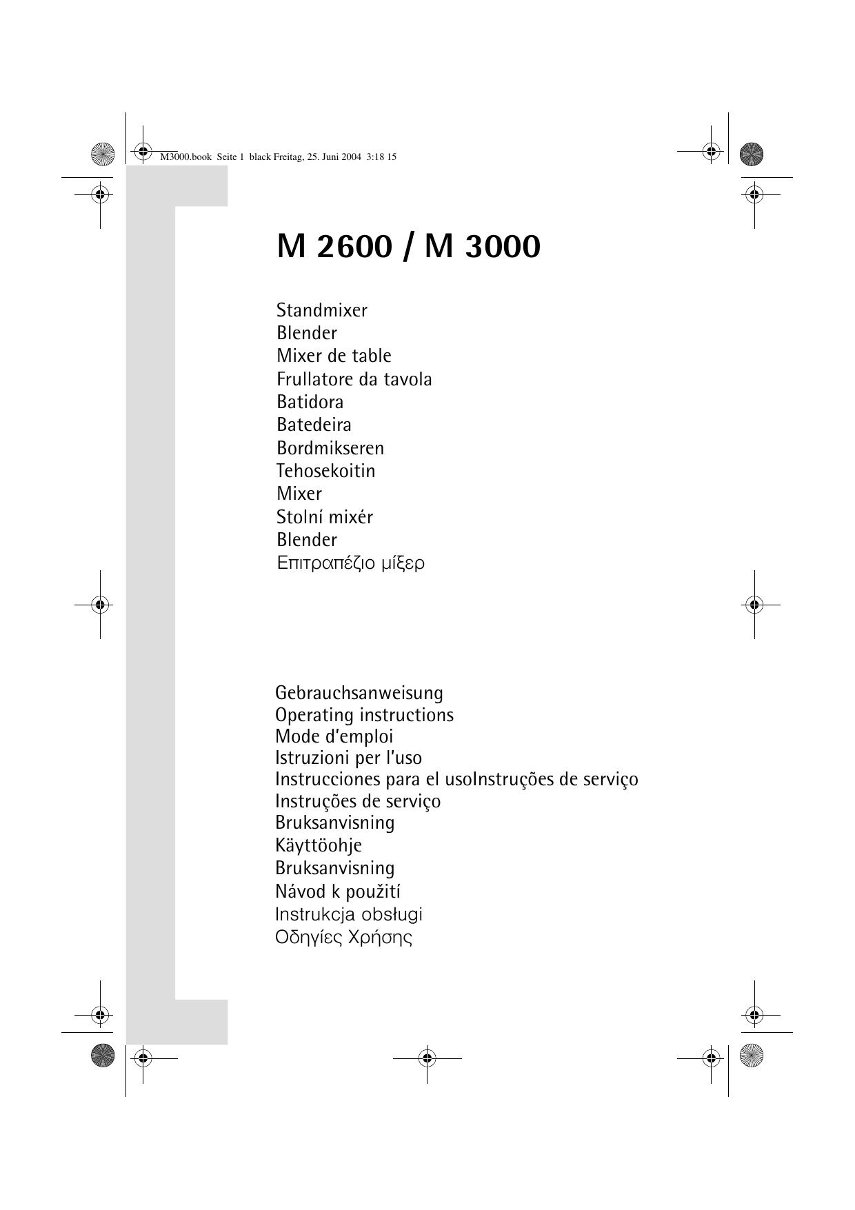 Charmant Aeg M3000 User Manual
