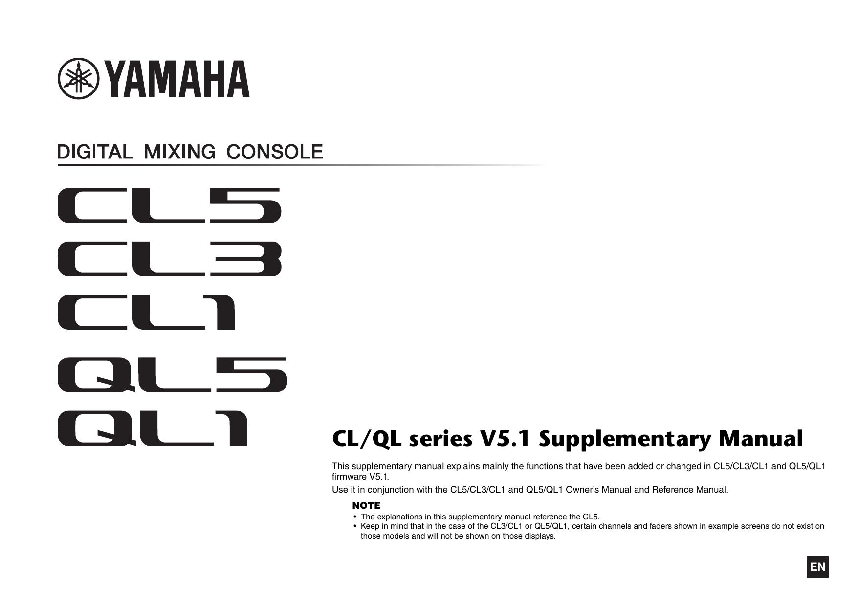 yamaha cl3 manual on