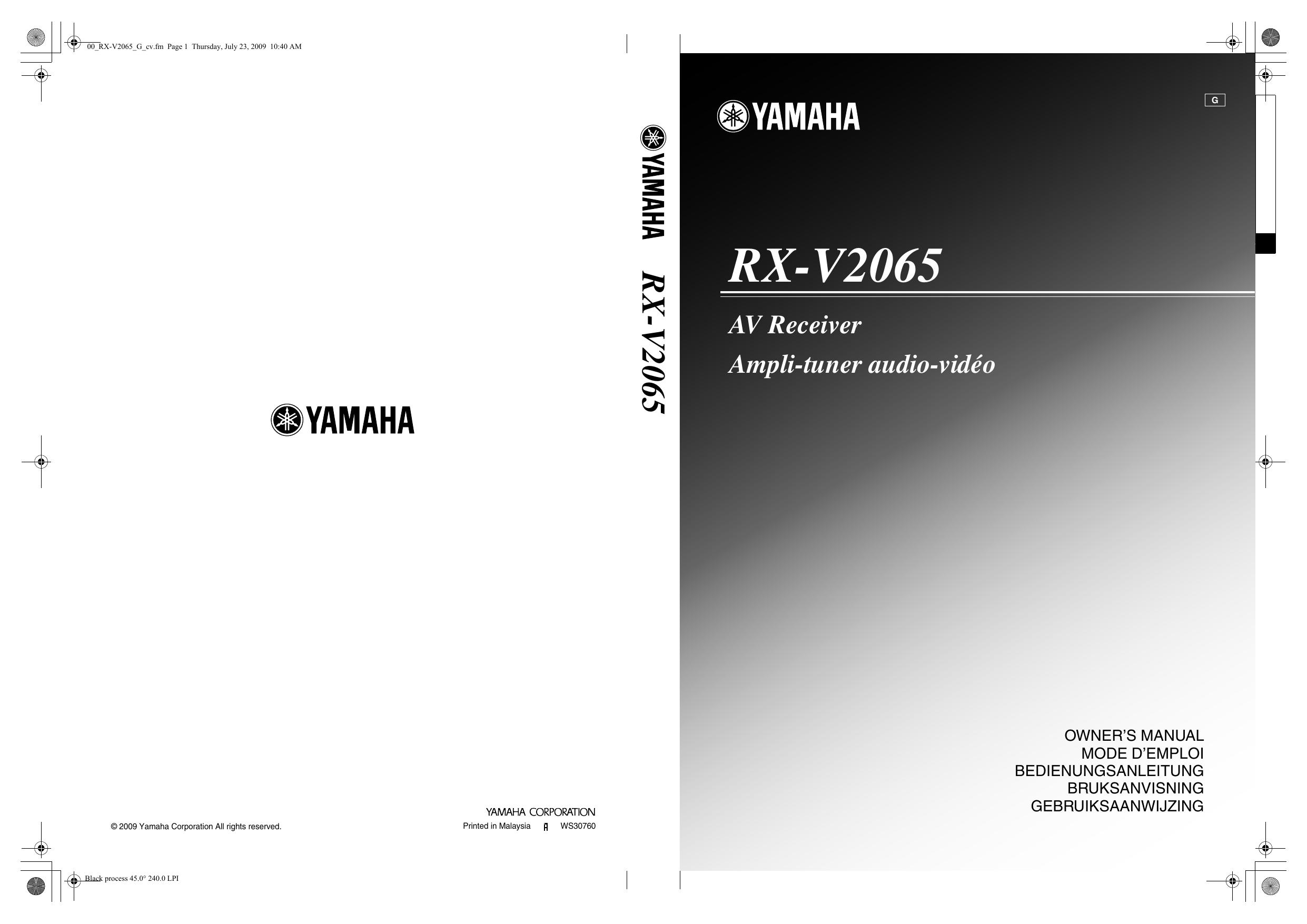 Yamaha Rx V2065 Bruksanvisning Manualzzcom