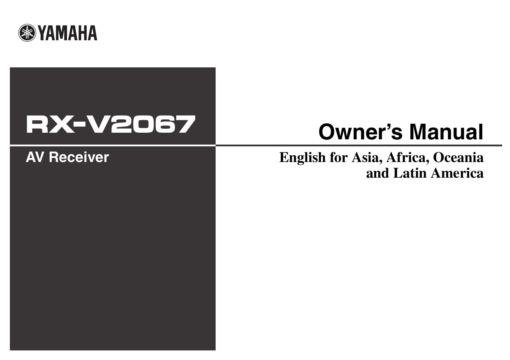 Yamaha RX-V2067 Manual de Instrucciones | manualzz com