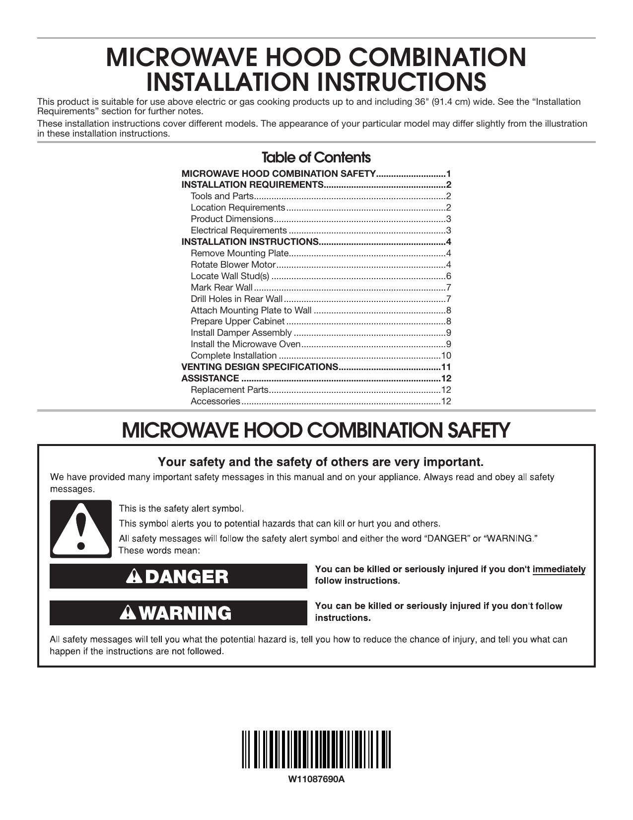 Whirlpool Wmh53521hz Installation Guide
