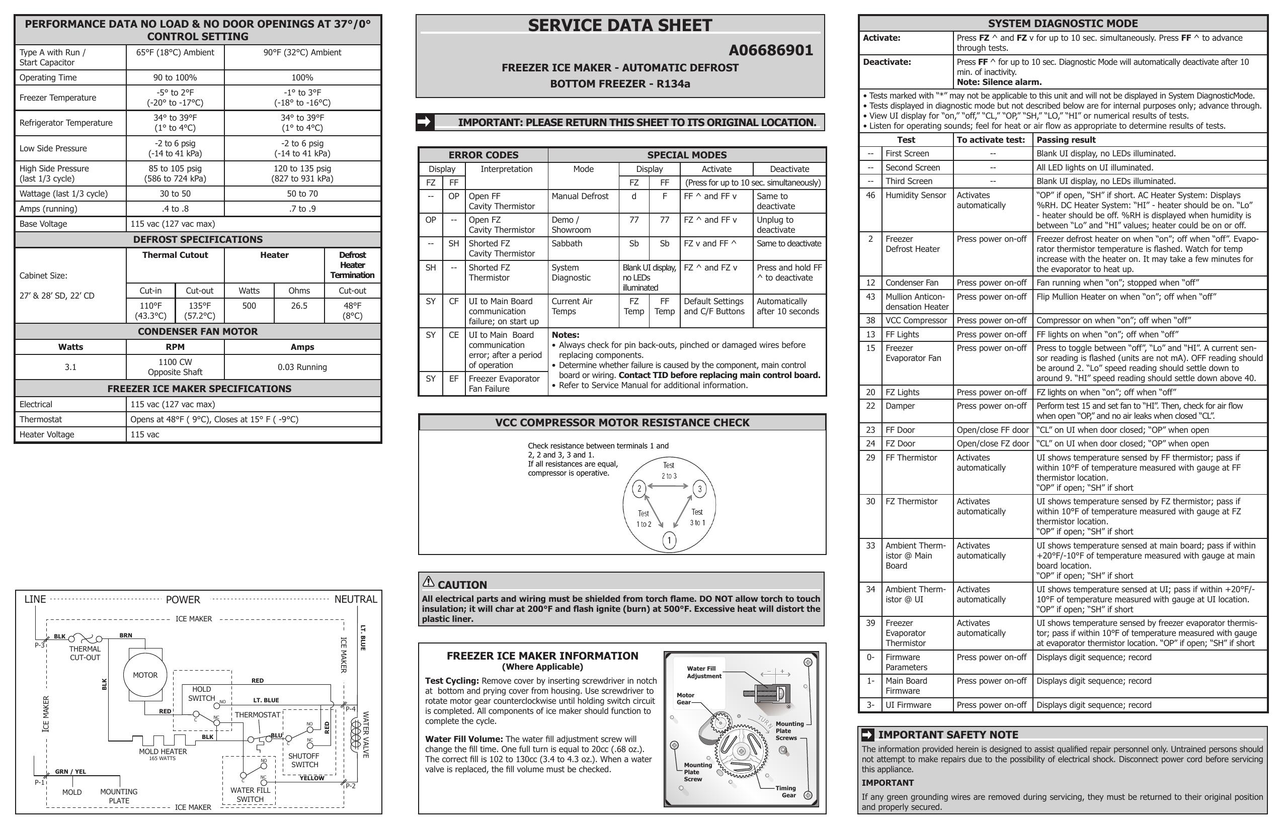 Frigidaire FFHN2750TS Wiring Diagram | Manualzzmanualzz