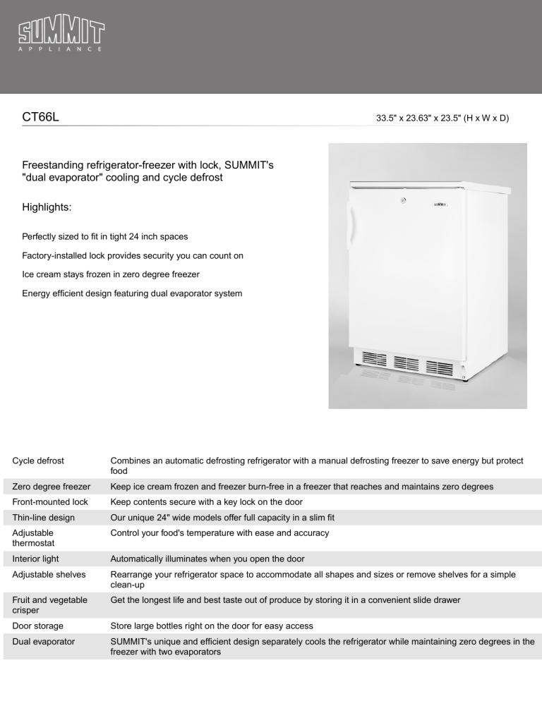 AccuCold CT66L User Manual   Manualzz