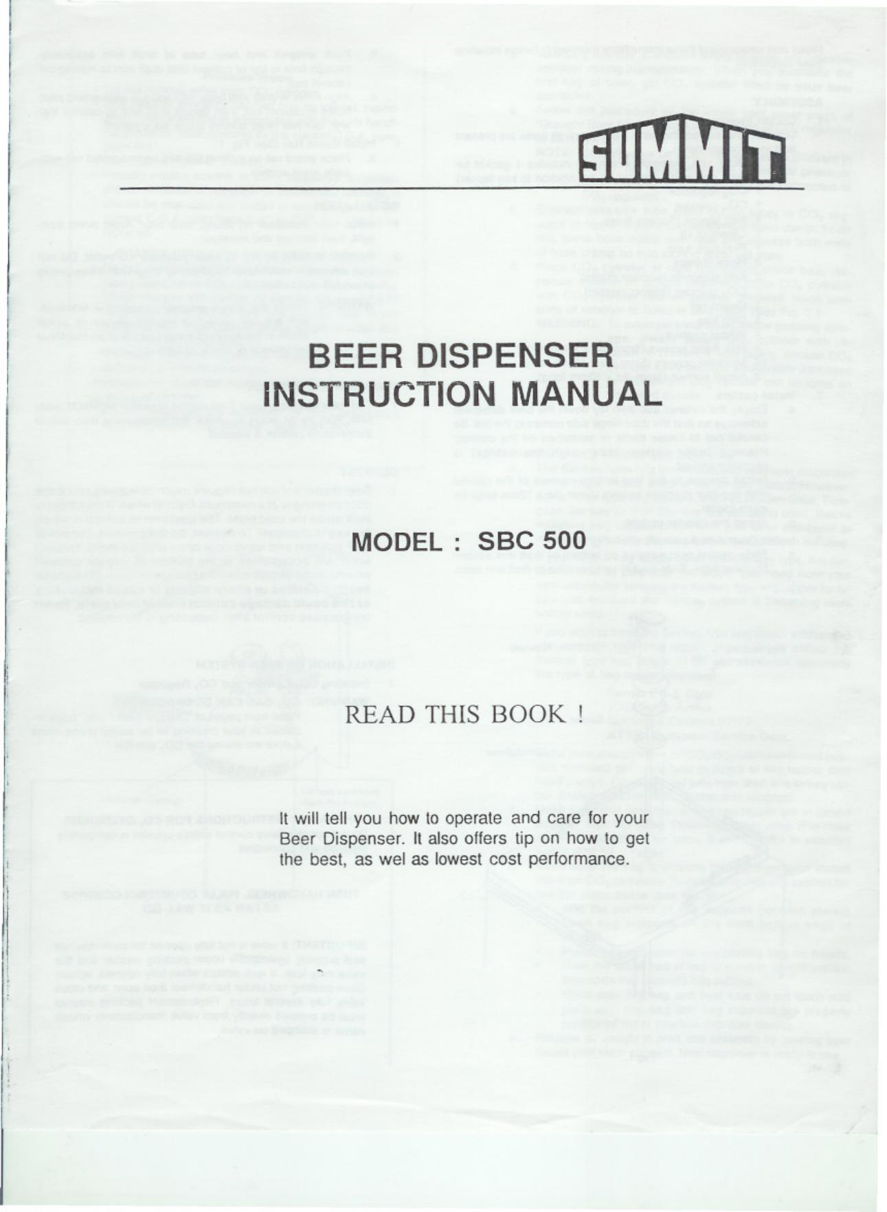 Summit SMSBC500BST7 SBC500manual.pdf | Manualzz