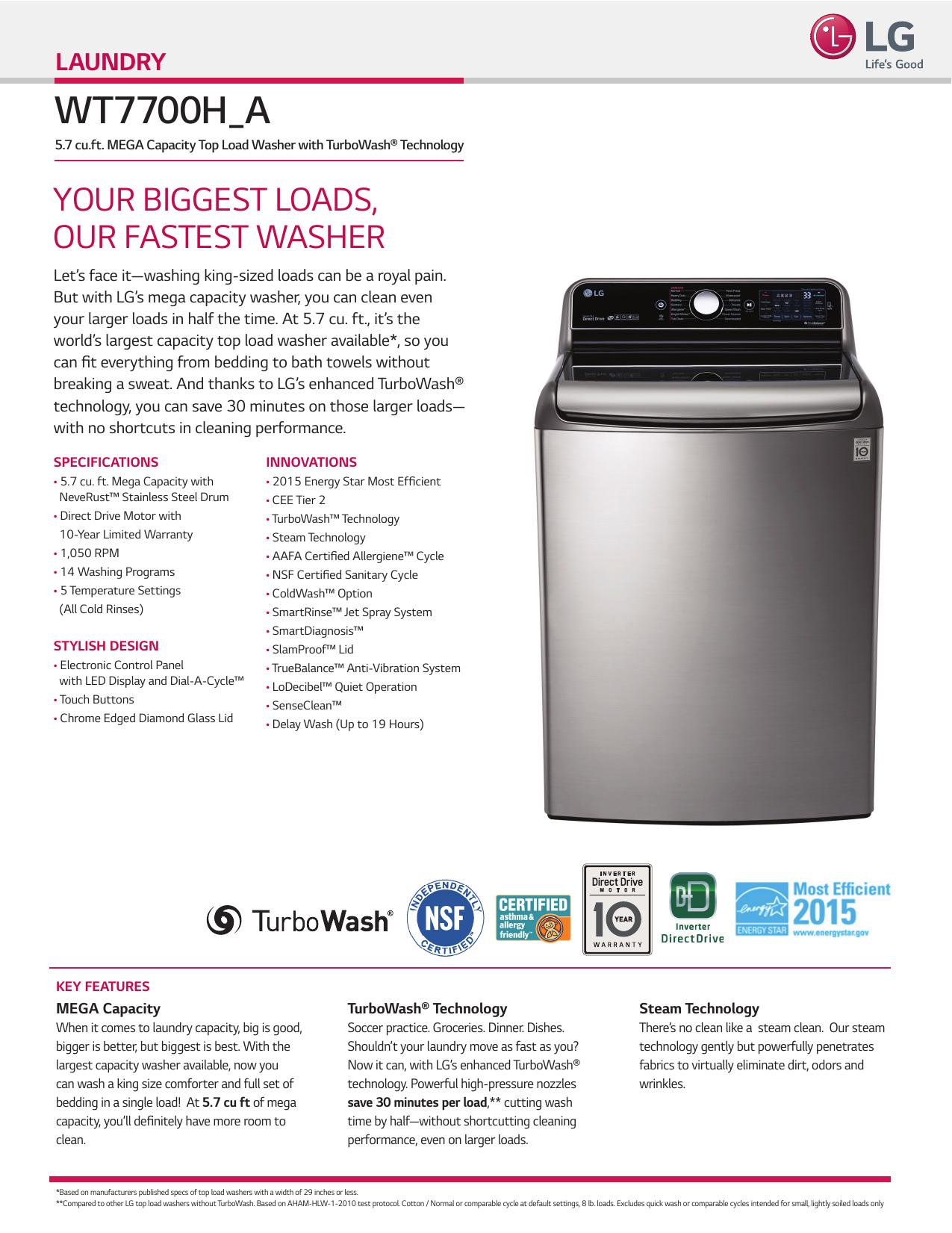 LG WT7700HWA DOWNLOAD PDF | manualzz com