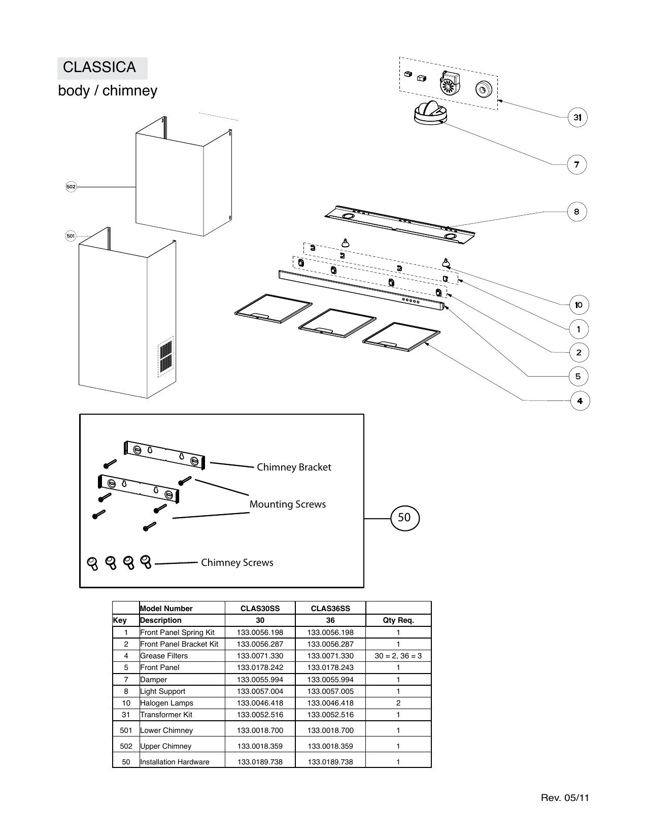Faber CLAS30SS Parts List/Exploded View | manualzz com