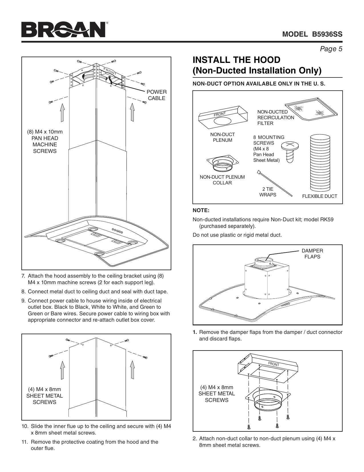 broan wiring diagram install guide wiring diagram section  broan wiring diagram install guide #11
