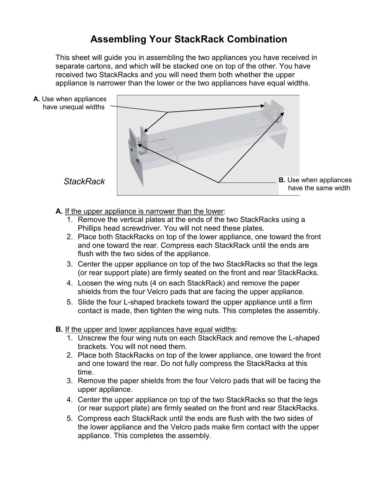 Summit STACKINGRACK StackRackuniversalinstructions.pdf | Manualzz