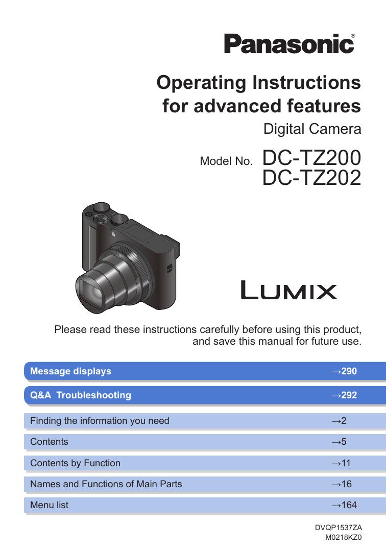 Panasonic DCTZ200EB Operating Instructions | manualzz com