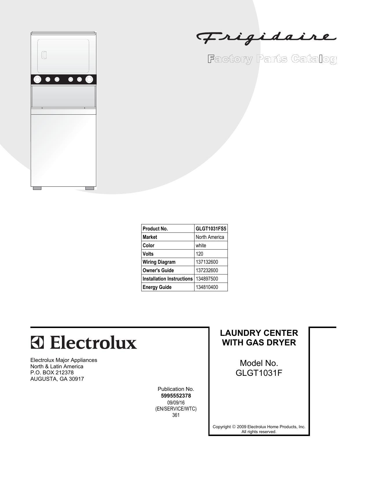 Frigidaire Washer Dryer Glgt1031f User Manual Manualzz