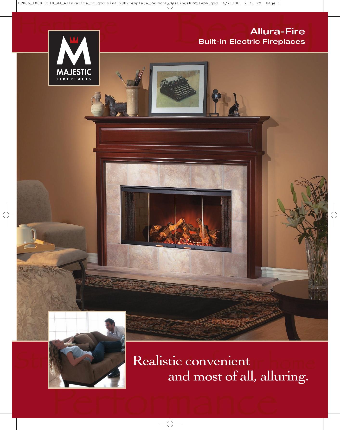 Majestic Indoor Fireplace Bref42 User Manual Manualzz