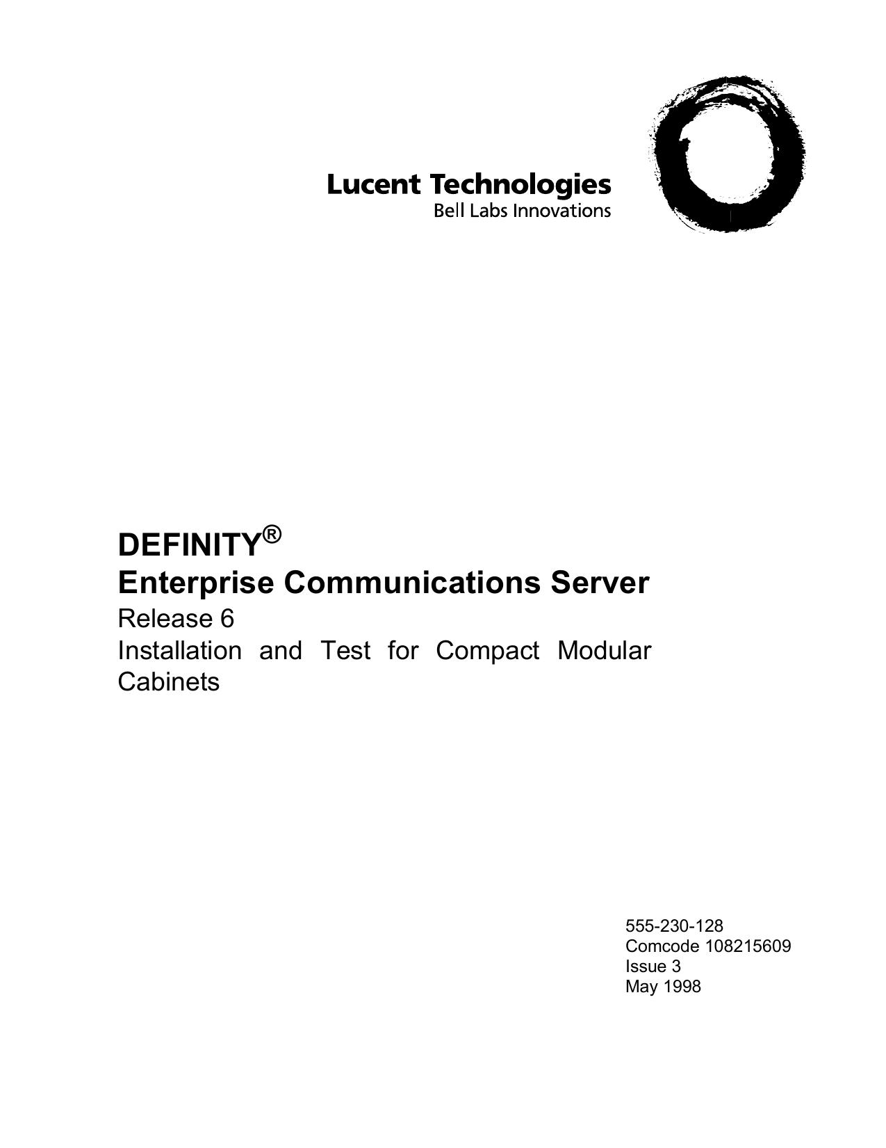 Lucent Technologies Life Jacket 555-230-128 User manual