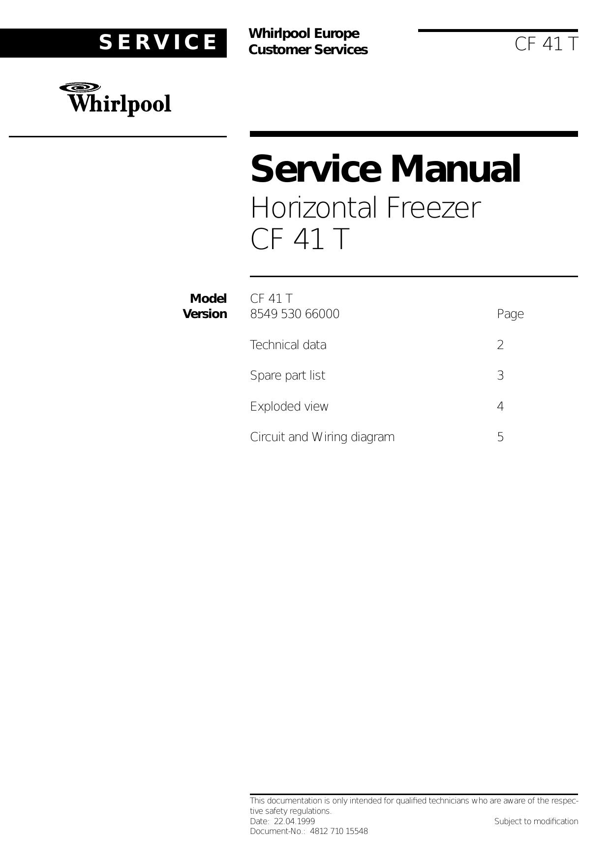 whirlpool freezer wiring diagram whirlpool freezer 41 user manual manualzz  whirlpool freezer 41 user manual manualzz