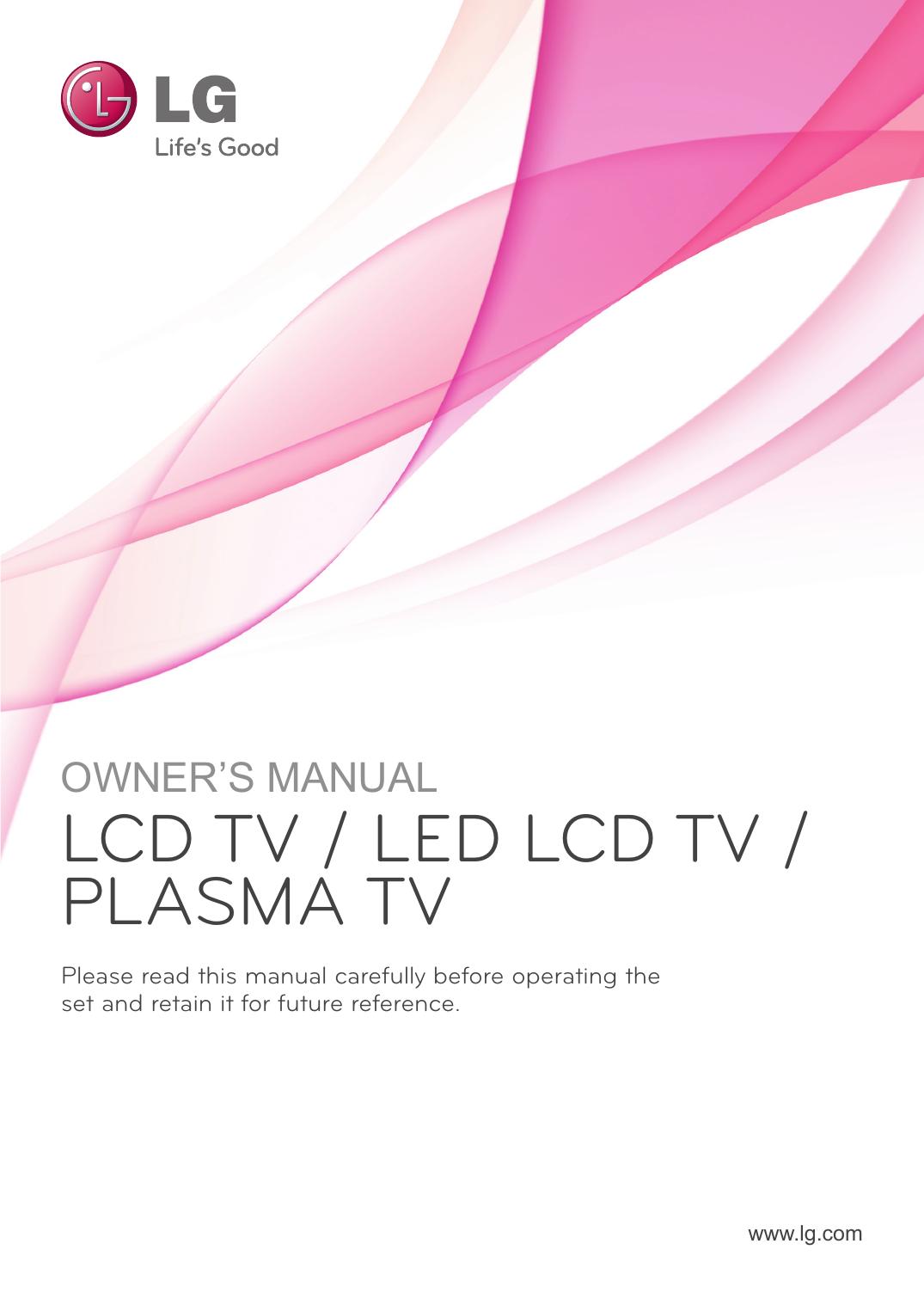 Lg 50pv250 User Guide Manualzz