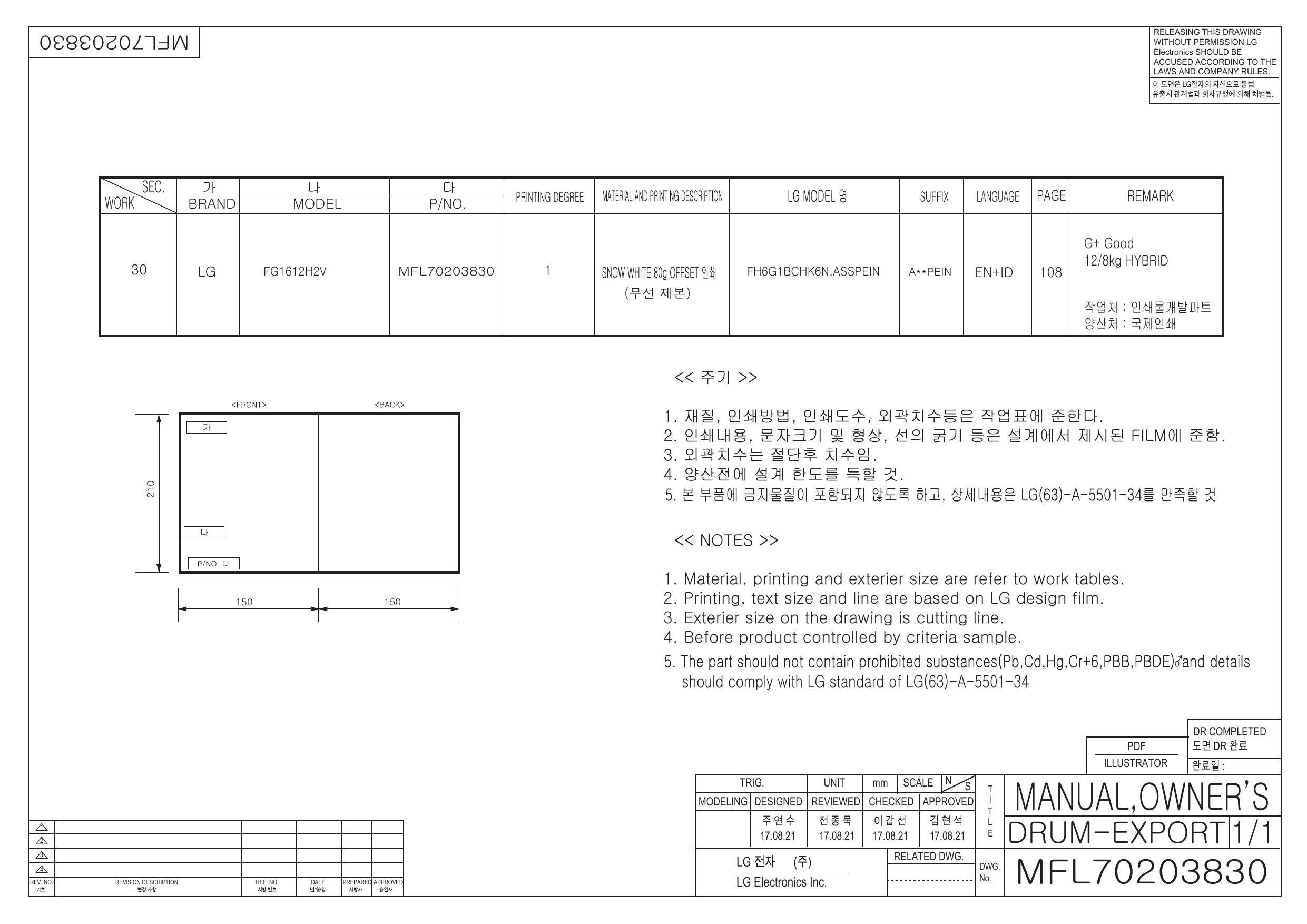 Lg Fg1612h2v Owner S Manual Manualzz