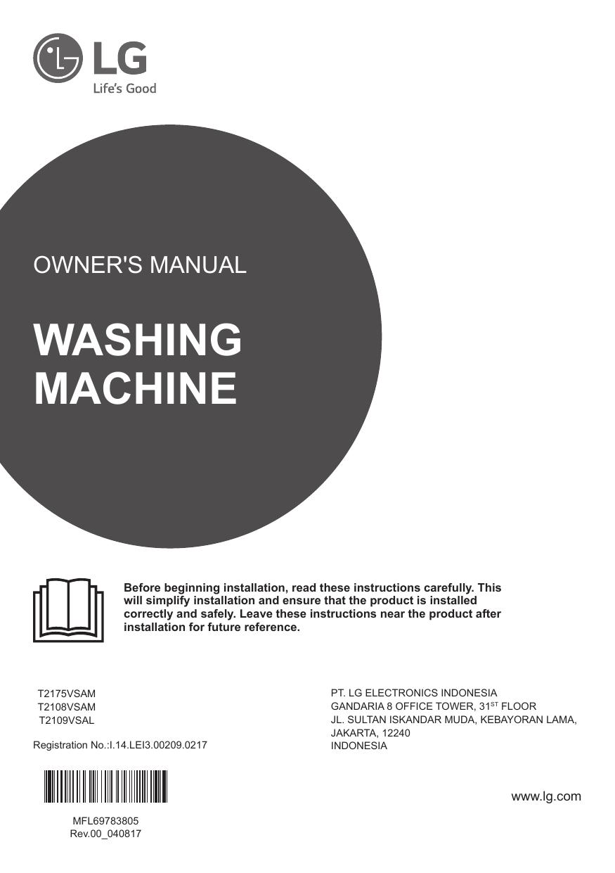 Lg T2109vsal Owner S Manual Manualzz