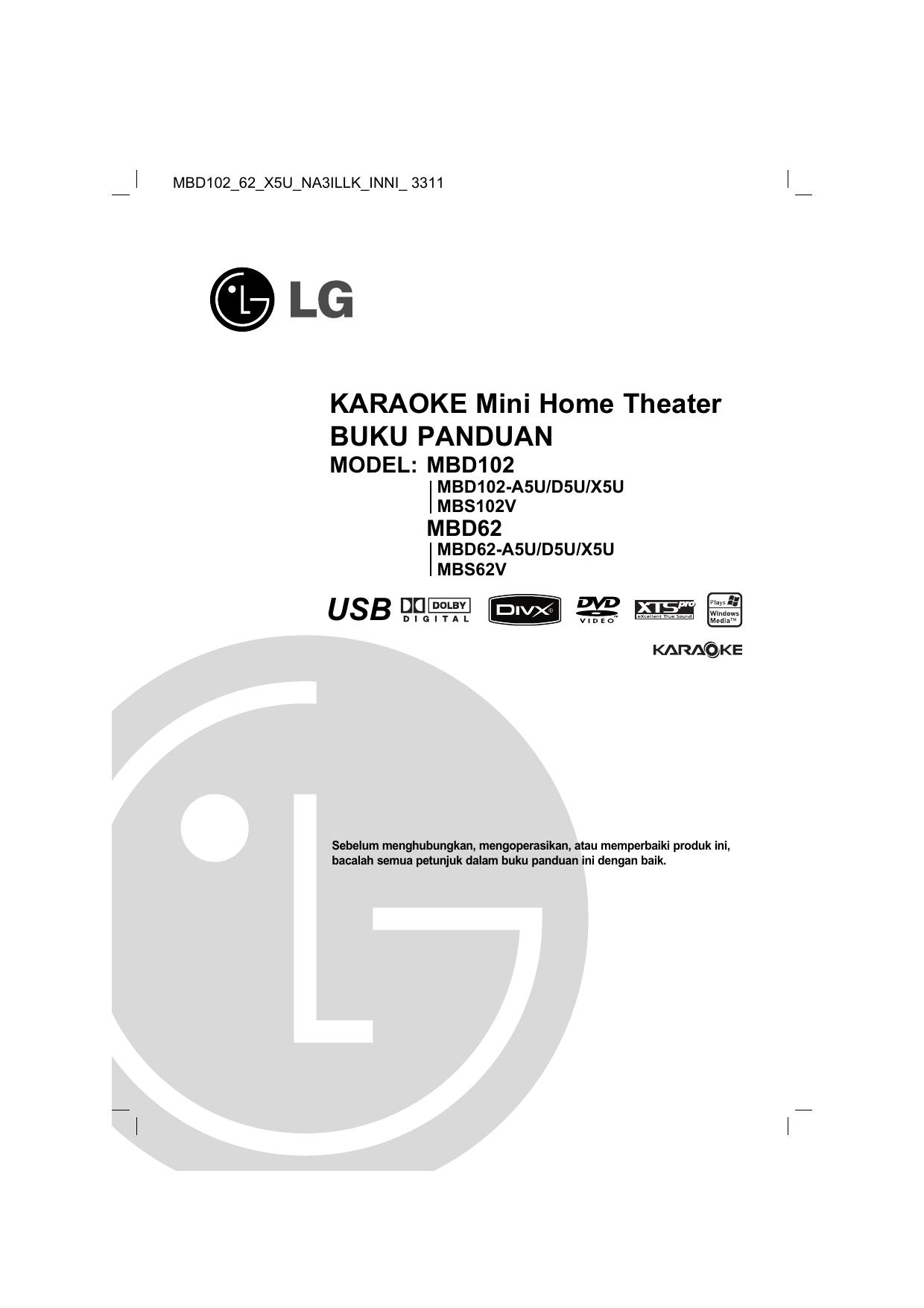Lg Mbd62 Mbd62 A5u Mbd102 Mbd102 A5u Owner S Manual Manualzz