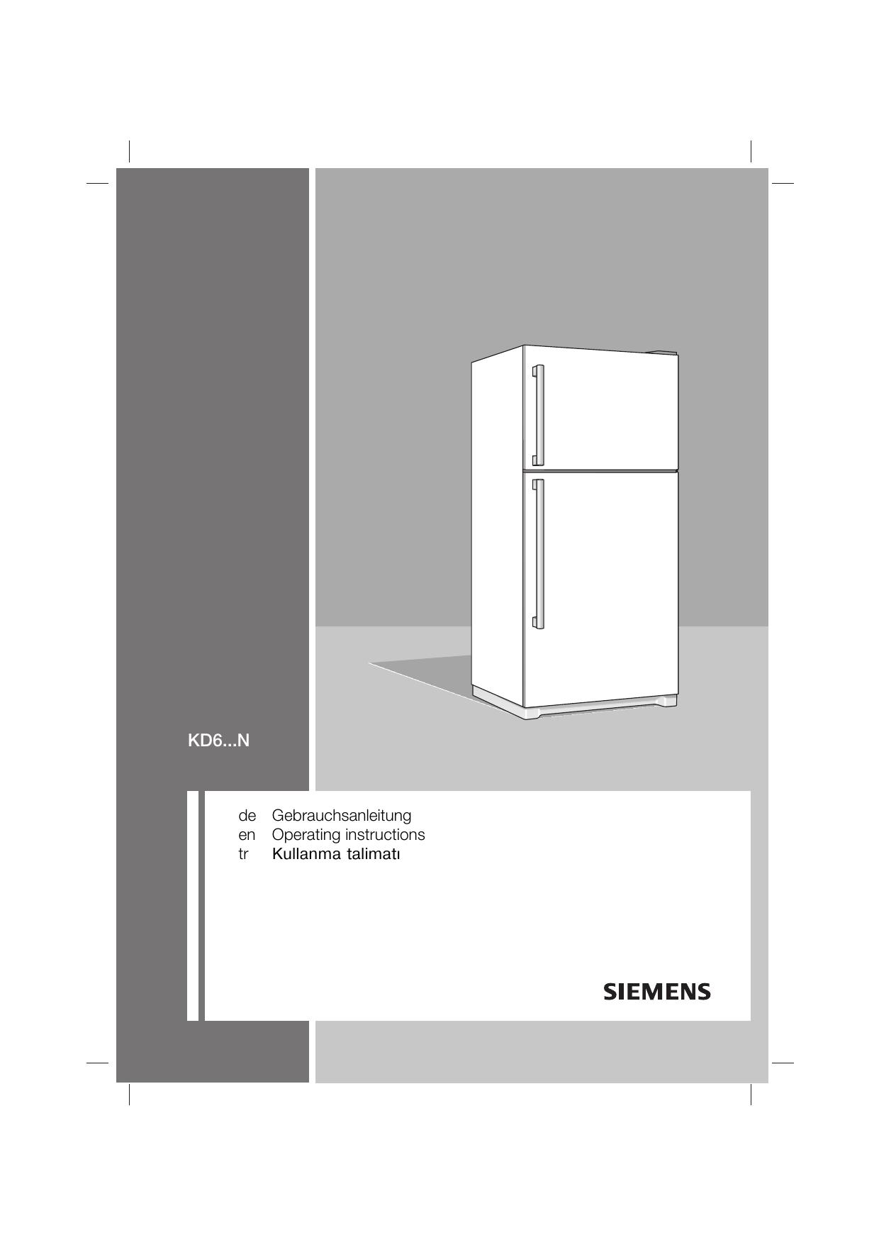 Siemens Refrigerator Solo Instruction Manual Manualzz