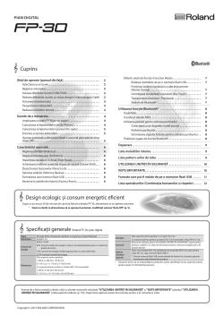 Roland Fp 30 Belangrijke Gegevens Gebruikershandleiding Handleiding De Handleiding