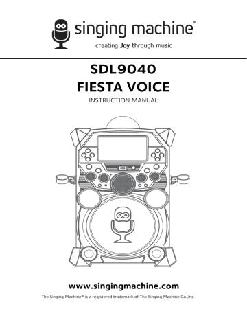 Singingmachine Sdl9040 Product Manual Manualzz