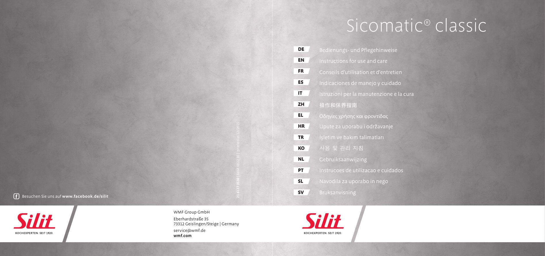 Silit Sicomatic E Asa Cuerpo con protecci/ón Llama Negro