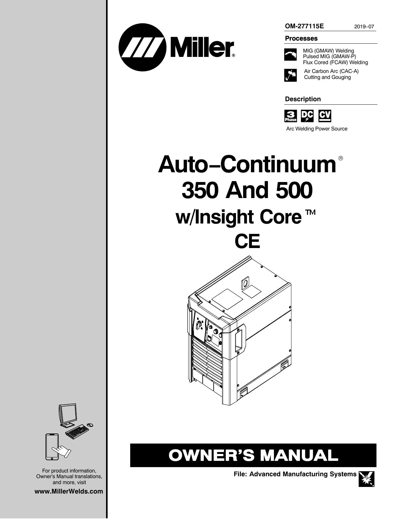 Miller MK40C Owner's manual   Manualzz