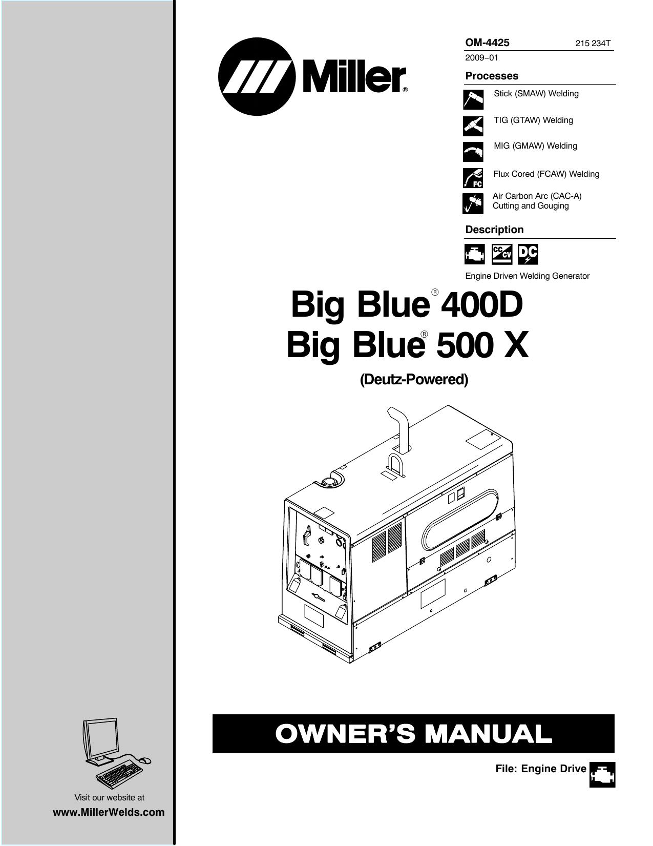 Miller LK40E Owner's manual   Manualzz