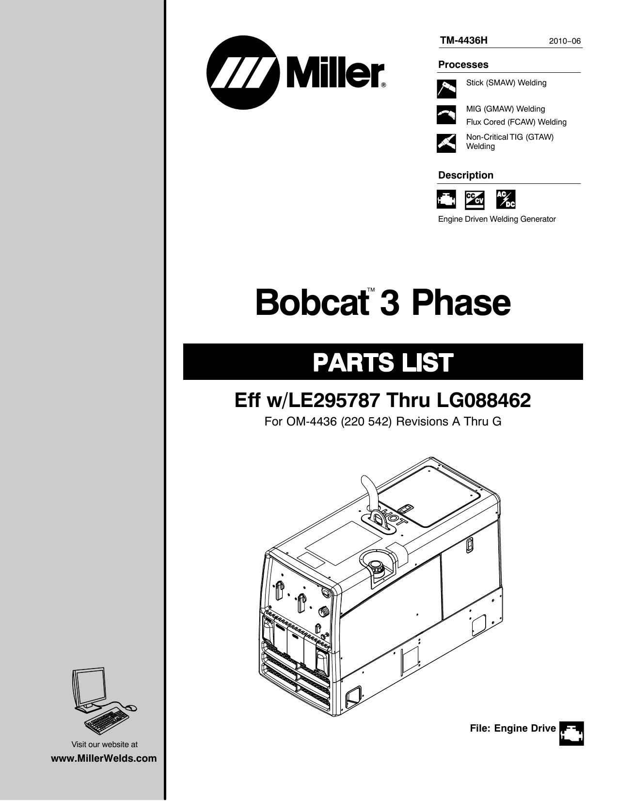 Miller 217654 Bezel Side Panel Engine Access