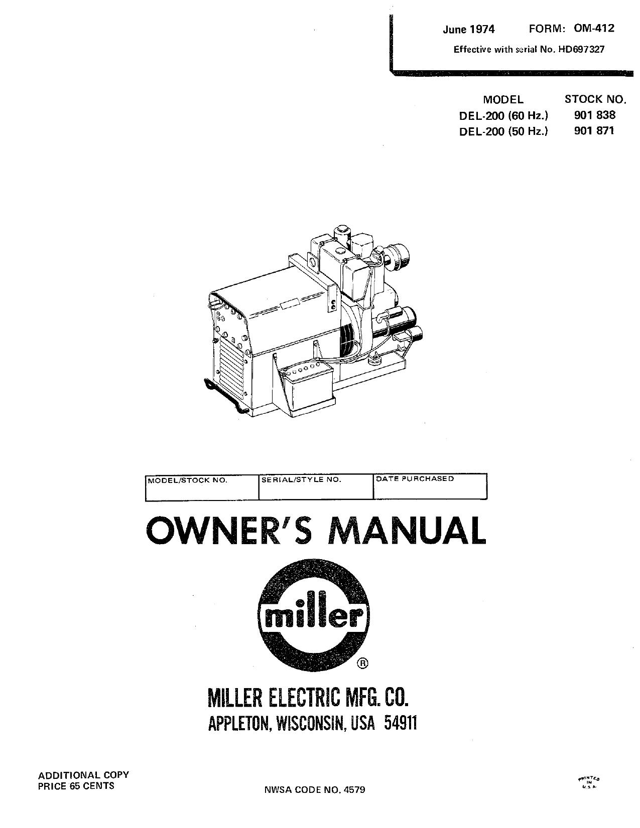 Miller HD40 Owner's manual   Manualzz